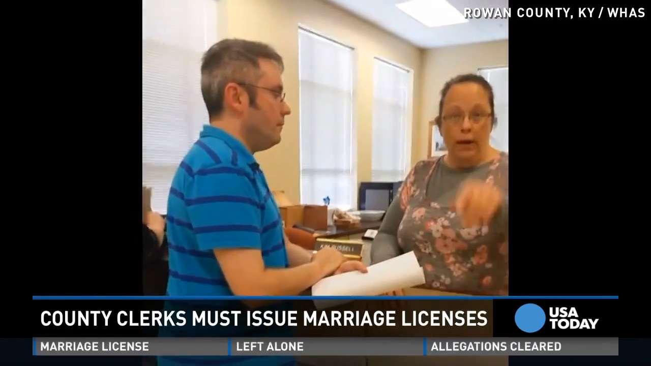 Judge: Kentucky clerk must issue gay marriage licenses