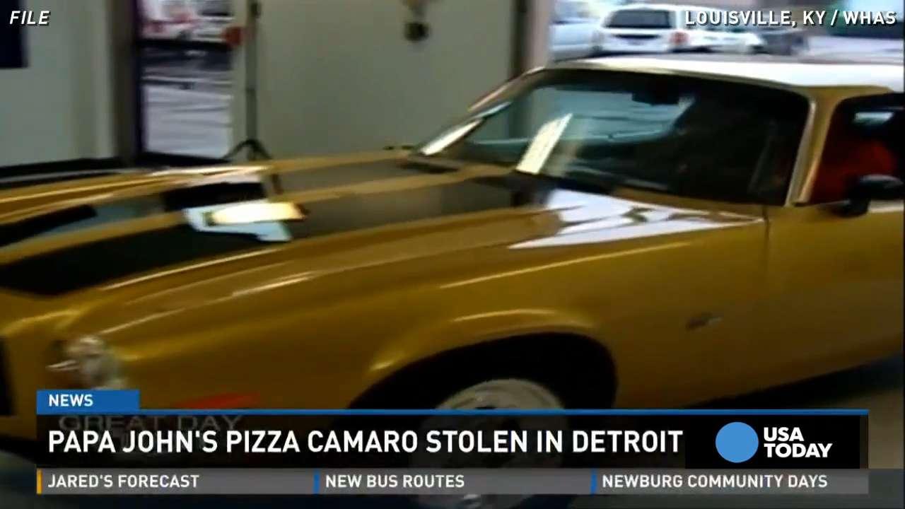 papa john's missing camaro found in detroit driveway