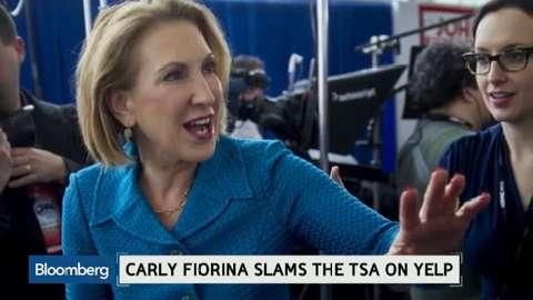 Carly Fiorina slams the TSA