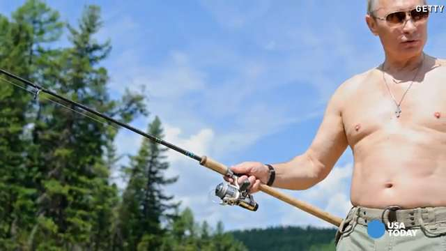 Vladimir Putin loves doing extreme sports...shirtless