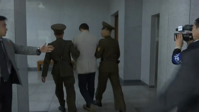 Raw: U.S. student gets 15 years in N. Korea prison