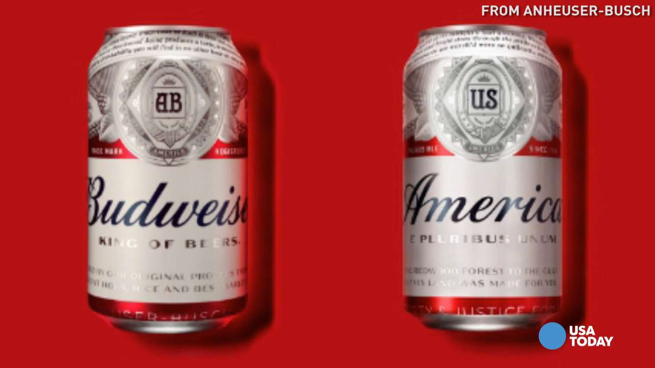 """Thanks to Anheuser-Busch, beer just got a little bit more patriotic. The company announced it is replacing the Budweiser logo with the word """"America"""" on its 12-oz. cans and bottles this summer."""