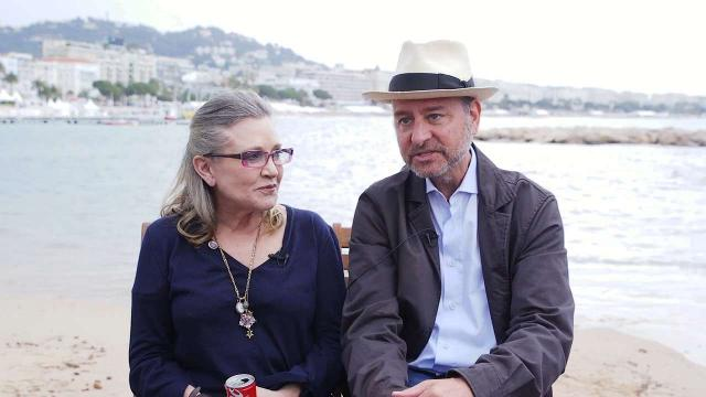 Carrie Fisher and Fisher Stevens dish about their new HBO documentary