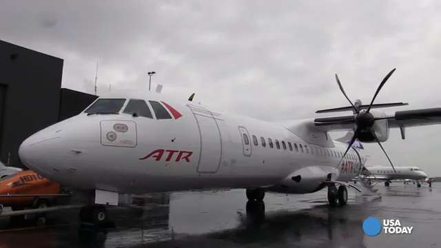European airplane manufacturer ATR is showing off their new 72-600 turboprop and touting it as a solution for regional routes in the U.S. USA TODAY travel reporter Ben Mutzabaugh went along for the ride.
