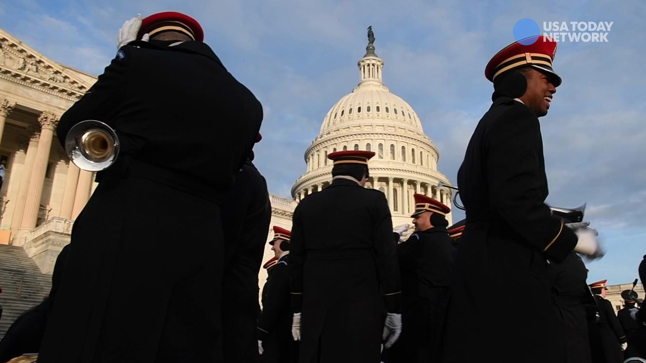 Dress rehearsal for Donald Trump's Presidential Inauguration at the United States Capitol.