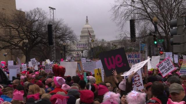 Protesters flood Washington for women's march