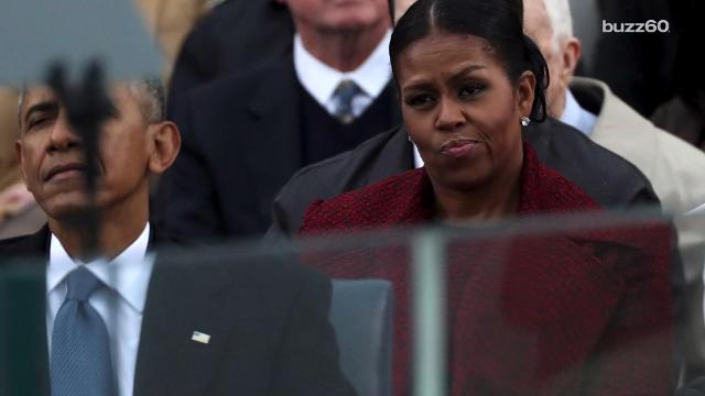 michelle obama side eyeing melania trump is inauguration day s best meme