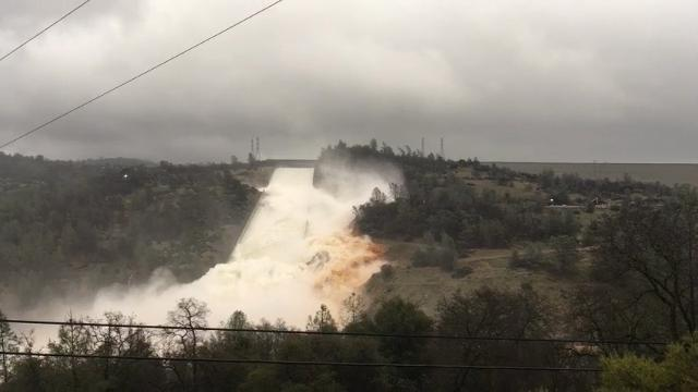 200-foot-long hole in damaged Calif. dam