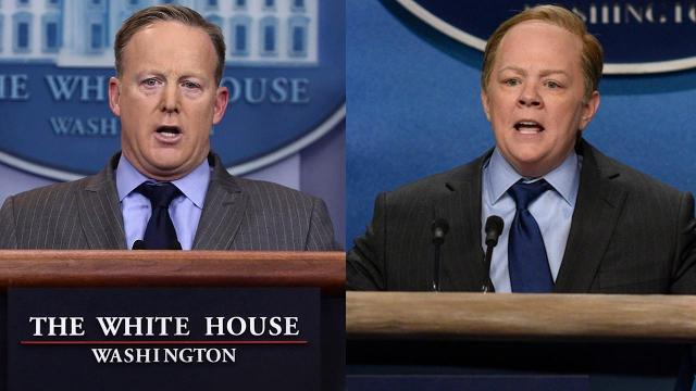 Melissa McCarthy as Press Secretary Sean Spicer on Saturday Night Live