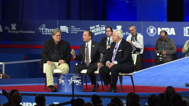 Steve Bannon, Reince Priebus speak at CPAC (February)