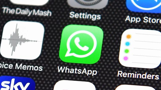 Authorities can't see what was sent because WhatsApp encrypts all messages to ensure users' privacy.