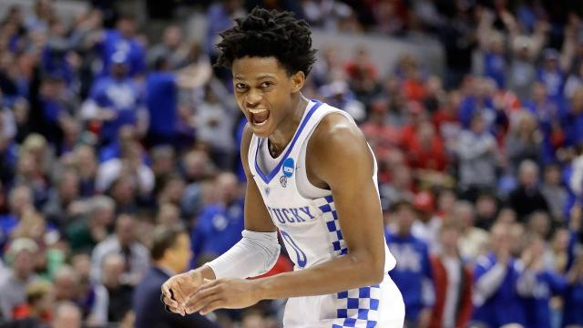 De'Aaron Fox poured in 39 points, a NCAA tournament record for a freshman,  as Kentucky defeated UCLA.