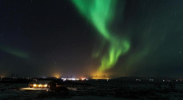 The Aurora Borealis is also famously known as the Northern Lights.