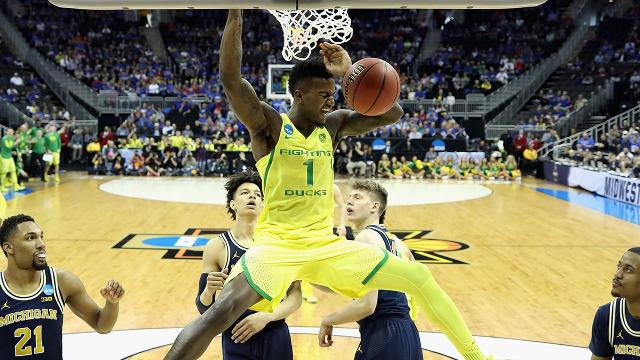 Led by Tyler Dorsey and Jordan Bell, the Oregon Ducks squeaked past the Michigan Wolverines to earn their second consecutive trip to the Elite 8.