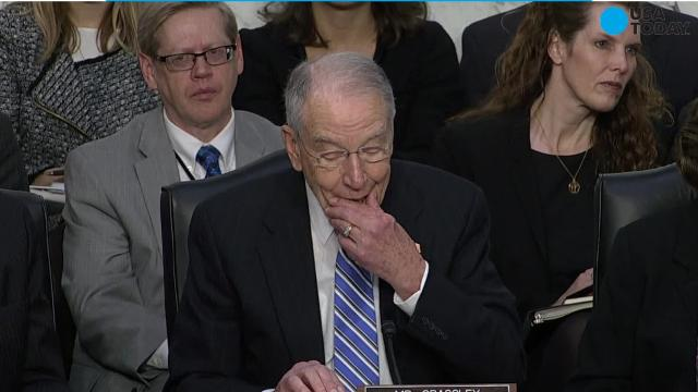 Senate Judiciary Chairman Chuck Grassley speaks during