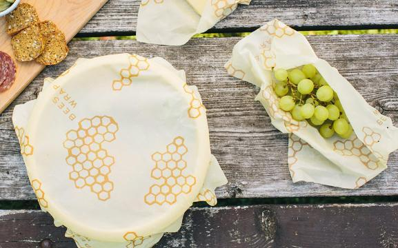 It's called Bee's Wrap, and it's a sustainable alternative to plastic wrap or foil.