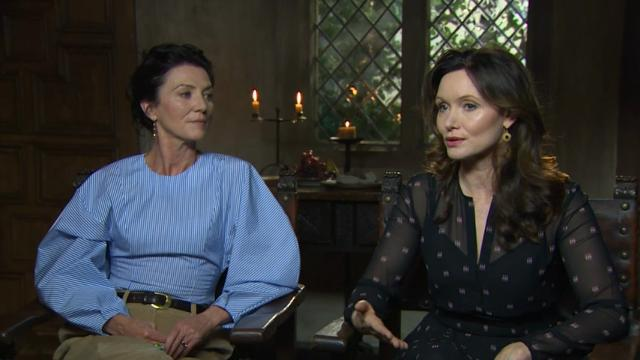"""""""The White Princess"""" stars Michelle Fairley and Essie Davis discuss why the 15th Century was such a riveting period in British royal history. (March 27)"""