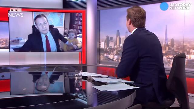 Kids video bomb dad's live interview