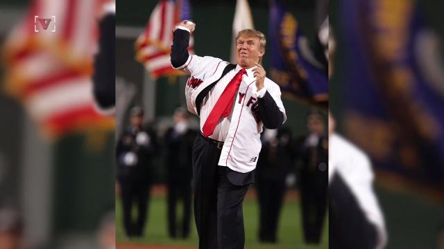 Donald Trump may be throwing out the first pitch for the Washington National game.