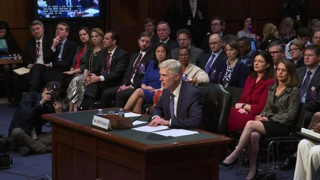 Neil Gorsuch confirmation hearings begin