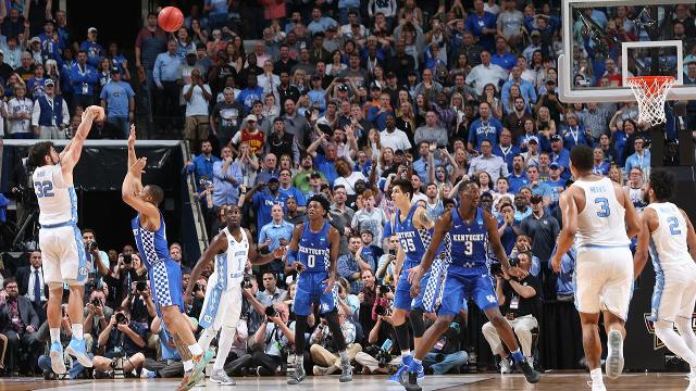 The end of the North Carolina-Kentucky game was the most exciting finish of the whole tournament (probably just a hair ahead of Florida-Wisconsin), but viewers in Columbus, Ohio, didn't get to see it.
