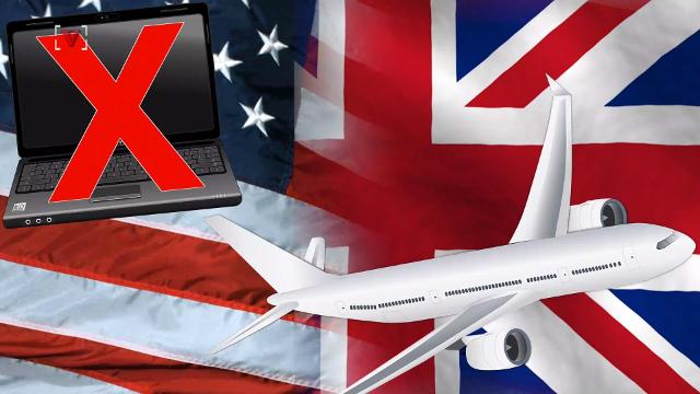 The United States and the United Kingdom are setting new carry-on restrictions for certain flights that ban laptops and other large electronic devices. Josh King has the story (@abridgetoland).