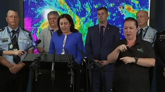 A powerful cyclone packing winds of up to 260 kilometres (160 miles) per hour roared across Australia's tropical northeast, uprooting trees, tearing down fences and knocking out power to thousands, officials said. (March 28)