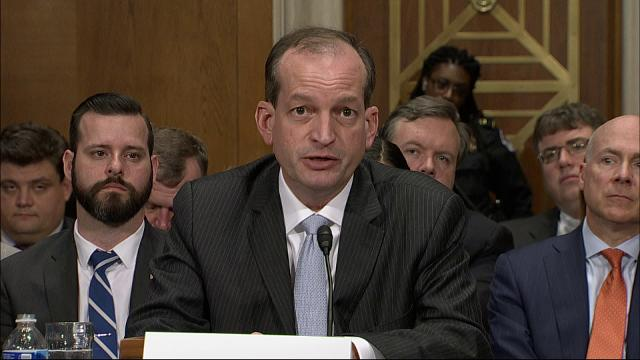 President Trump's nominee to lead the Labor Department said Wednesday he won't allow potential political pressure from the administration to influence his hiring decisions and regrets he let that happen on his watch at the Justice Department. (March 22)
