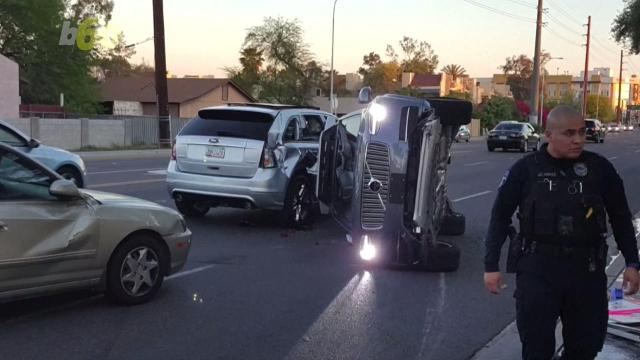 Uber is putting the brakes on its driverless car pilot program after one of its self-driving cars got into a high speed crash in Arizona. Sean Dowling (@seandowlingtv) has more.