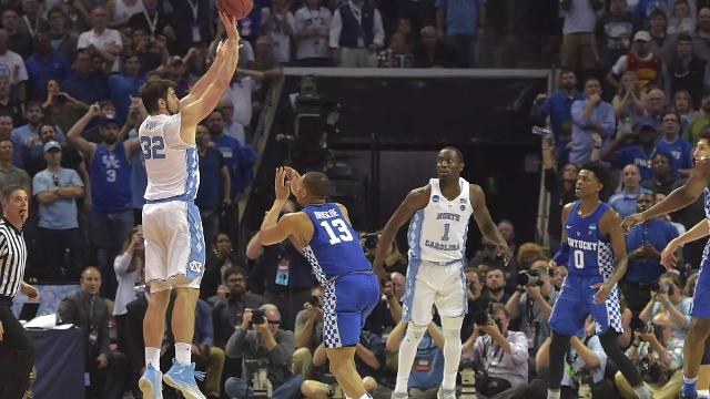 North Carolina star Luke Maye hit a game winning shot against Kentucky to send his team to the final four. Veuer's Nick Cardona (@nickcardona93) tells us what he did next.