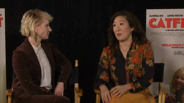 'Catfight' stars Sandra Oh and Anne Heche say the keys to a good fight scene are trust, ice packs and stretching. (March 24)