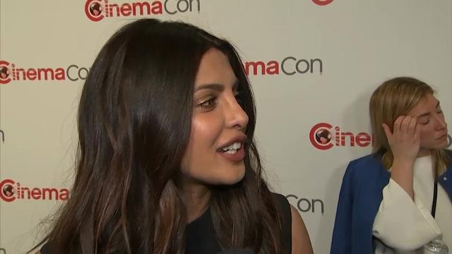 """At CinemaCon in Las Vegas, """"Baywatch"""" star Priyanka Chopra talks about playing the villain and how filmmaking is the same in Hollywood and Bollywood. (March 29)"""