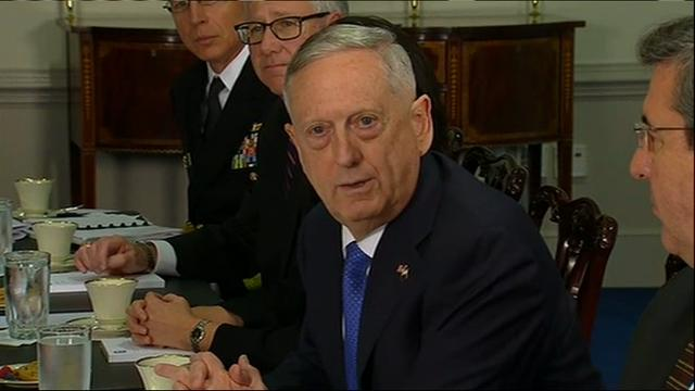 During a meeting with his Qatari counterpart, Defense Secretary Jim Mattis said no military in the world is more sensitive to civilian casualties. He made the comment following a US-led airstrike in Mosul that may have killed at least 100. (March 27)