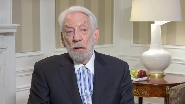 Donald Sutherland says he has great respect for women, so it's hard for him to accept that the new President of the United States has made lewd comments about women. (March 23)