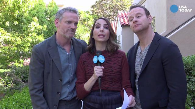 "Rachel Ramras helps out USA TODAY and interviews her ""Nobodies"" co-stars Hugh Davidson and Larry Dorf.  The TV Land series is executive produced by Melissa McCarthy and Ben Falcone."