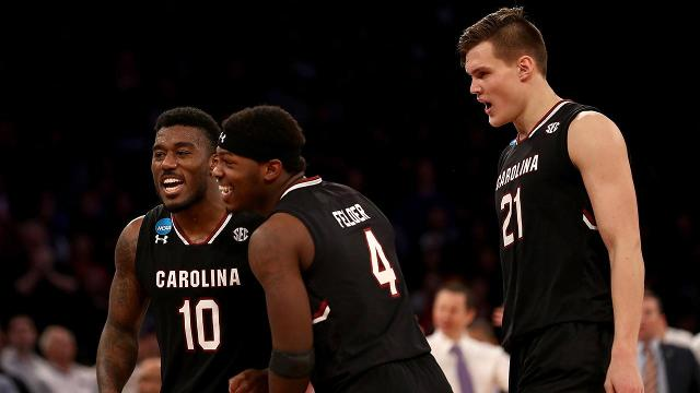 South Carolina toppled Florida and punched the school's first ever ticket to the Final Four in Arizona.