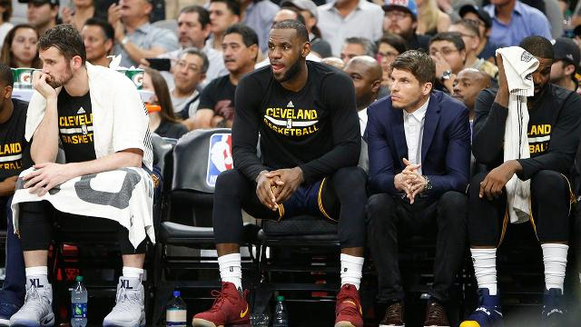Cleveland Cavaliers forward LeBron James said he is fine and plans to play in Thursday night's game against the Chicago Bulls after taking an elbow to his neck during Monday's loss to the San Antonio Spurs.