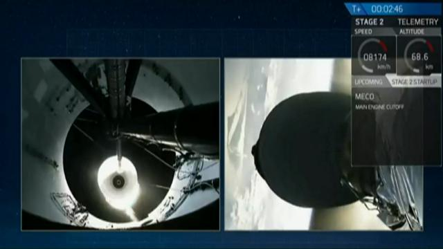 SpaceX launched its first recycled rocket Thursday, the biggest leap yet in its bid to drive down costs and speed up flights. The Falcon 9 blasted off from Florida, hoisting a broadcasting satellite into the sky on the historic rocket reflight. (March 30)