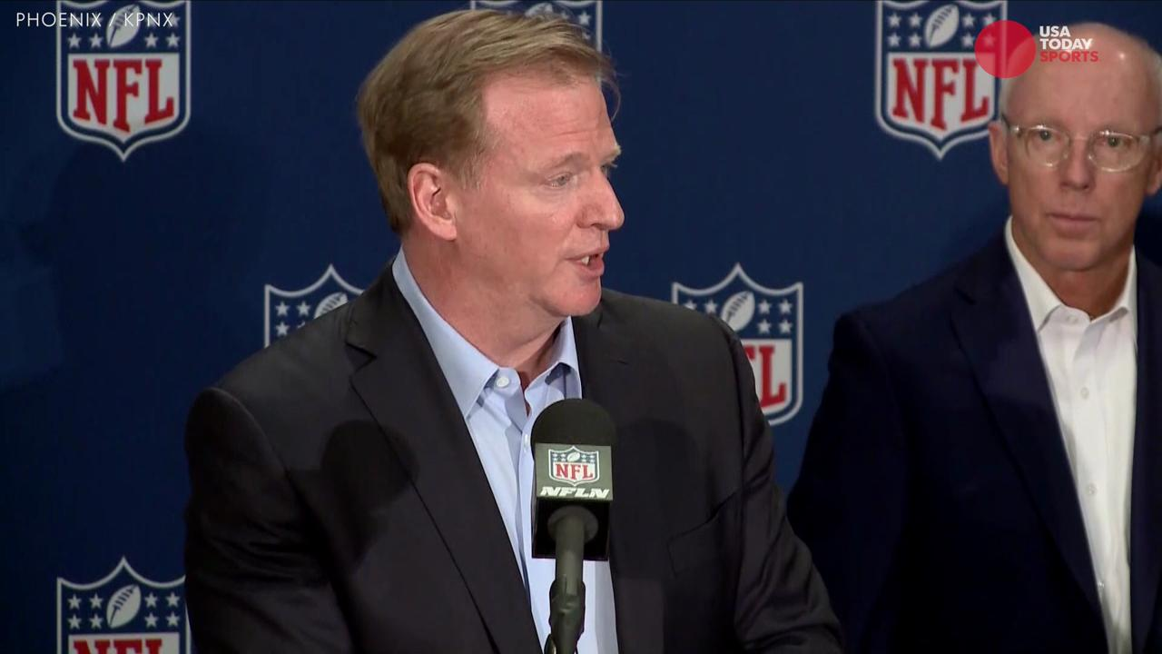 At NFL's annual meeting, Roger Goodell discussed the league's rule changes as well as the obvious challenges of having a franchise in Las Vegas.