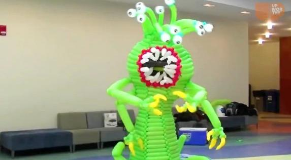 This dad quit his job to follow his balloon-making dreams. His hobby turned into an incredible display of balloon masterpieces.