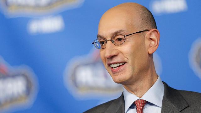 """NBA Commissioner Adam Silver says he believes that there will be a woman head coach in the NBA and wants it to happen """"sooner rather than later."""""""