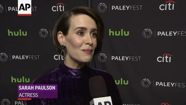 """""""American Horror Story"""" regular Sarah Paulson and newcomer Cuba Gooding Jr weigh in on rumors that the show could feature a plotline based on President Donald Trump. (March 27)"""