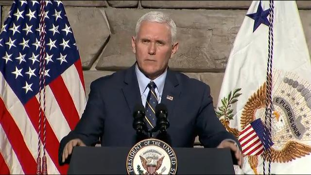 A defiant Vice President Mike Pence says President Donald Trump's administration is refusing to accept defeat on health care. (March 25)