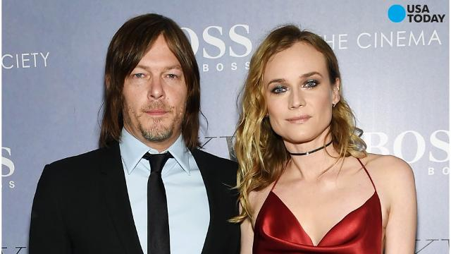 The Walking Dead's Norman Reedus has taken his relationship with Diane Kruger public.