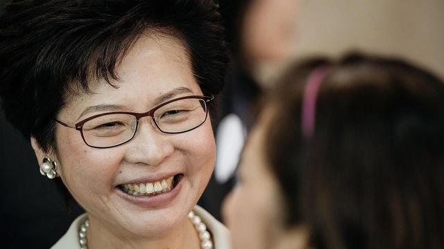 On Sunday, Lam, 59, was elected Hong Kong's fourth Chief Executive.