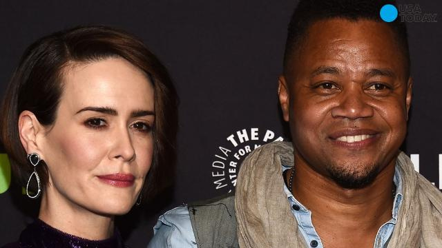 On Sunday night at an L.A. panel discussion for American Horror Story, Cuba Gooding Jr. lifted up Sarah Paulson's skirt while she wasn't looking.