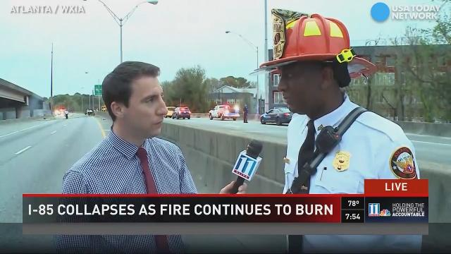 Sergeant describes scene of blaze on Atlanta interstate