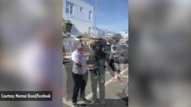 A 26-year-old New Jersey man is being called a hero for breaking up a fight between two young men.