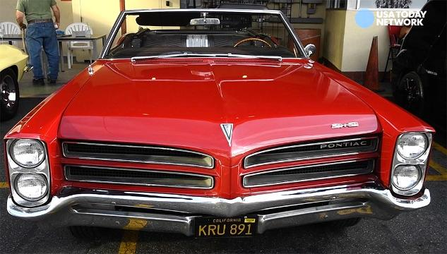 USA TODAY's Chris Woodyard talks to Paul Jamieson of Studio City, Calif., about his 1966 Pontiac 2+2, the performance version of a CatalinaVideo by Robert Hanashiro, USA TODAY