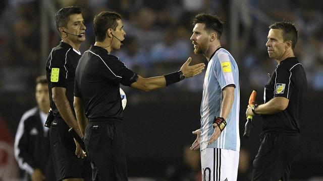 Lionel Messi has been banned four games by FIFA after TV images showed him verbally abusing a match official in Argentina's 1-0 win over Chile in World Cup qualifying last week.
